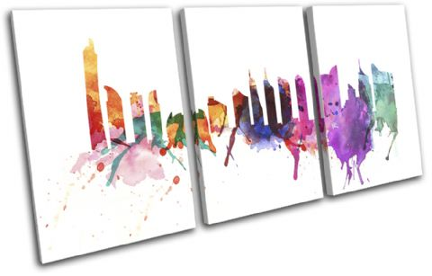 Dubai Watercolour Abstract City - 13-6002(00B)-TR21-LO